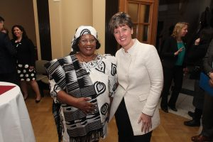 Her Excellency Dr. Joyce Banda, former President of Malawi and Nutrition International Board Member, and the Honourable Marie-Claude Bibeau, Canada's Minister for International Development and La Francophonie.