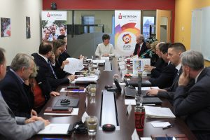The Honourable Marie-Claude Bibeau, Canada's Minister for International Development and La Francophonie, opened Nutrition International's board meeting on April 11.