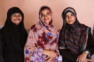 Group of three Pakistani women