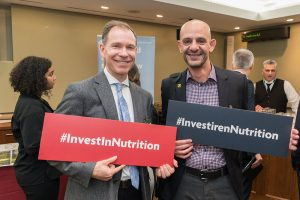 Brian Harrigan, Vice President, Strategy and Innovation, Nutrition International, and Gaby Jabbour, Women Deliver