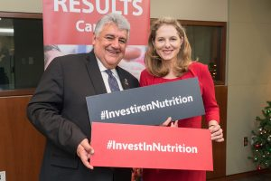 Amir Mahmoud Abdulla, Deputy Executive Director, World Food Programme, and Her Royal Highness Princess Sarah Zeid of Jordan