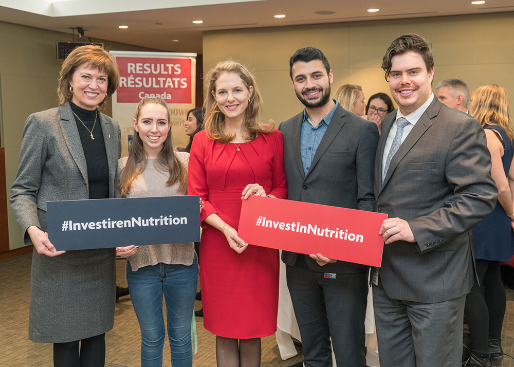 From left to right: Pam Damoff, Member of Parliament, Oakville North — Burlington , Jamie Bruce, Her Royal Highness Princess Sarah Zeid of Jordan, Musab Khalid, and Conor Lewis.