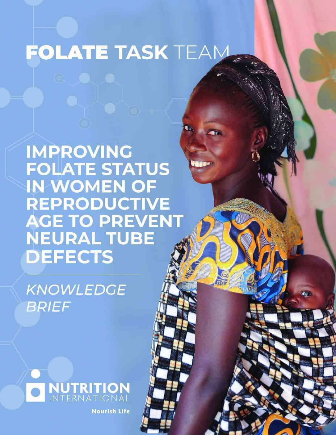 Knowledge Brief – Improving folate status in women of reproductive age to prevent neural tube defects thumbnail