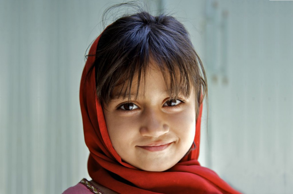 Portrait of a young girl child in Lahore, the capital of Punjab Province. Pakistan.