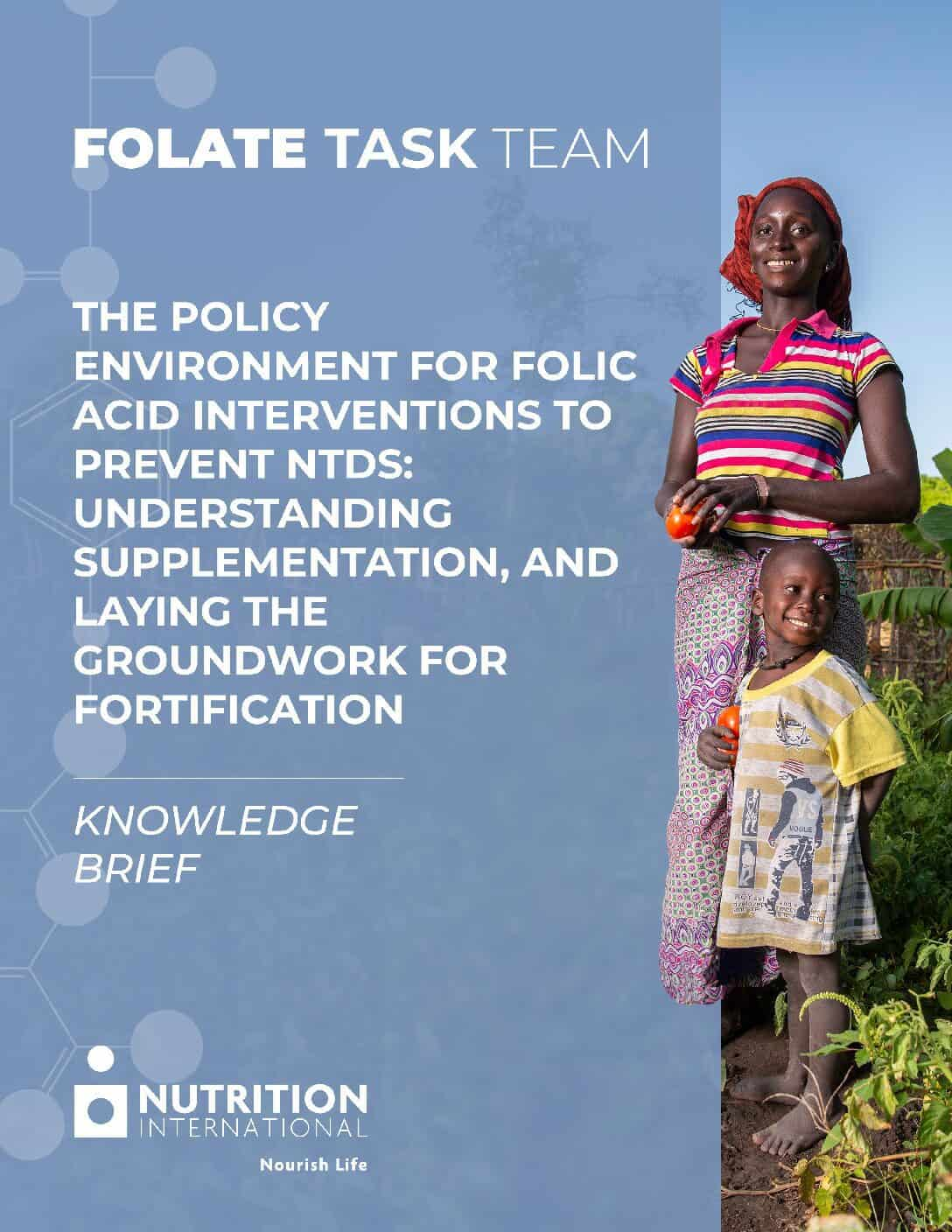 Knowledge Brief – The policy environment for folic acid interventions to prevent NTDs thumbnail