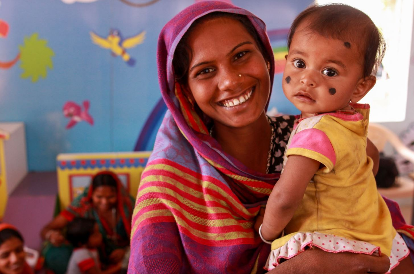 woman and baby in Gujarat