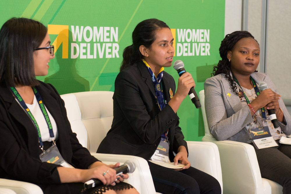 Youth nutrition advocates speak at How She Leads panel at Women Deliver 2019
