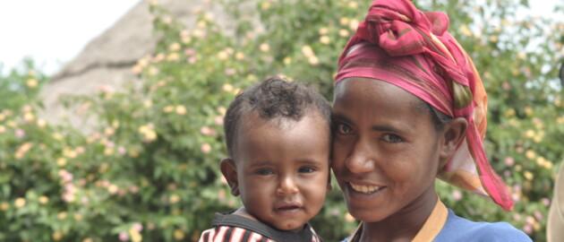 Children receiving vitamin A supplements as part of Malezi Bora in Kenya.