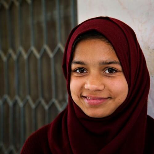 adolescent girl in Pakistan