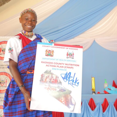 Adolescent girl at launch of nutrition action plan in Kajiado County Kenya