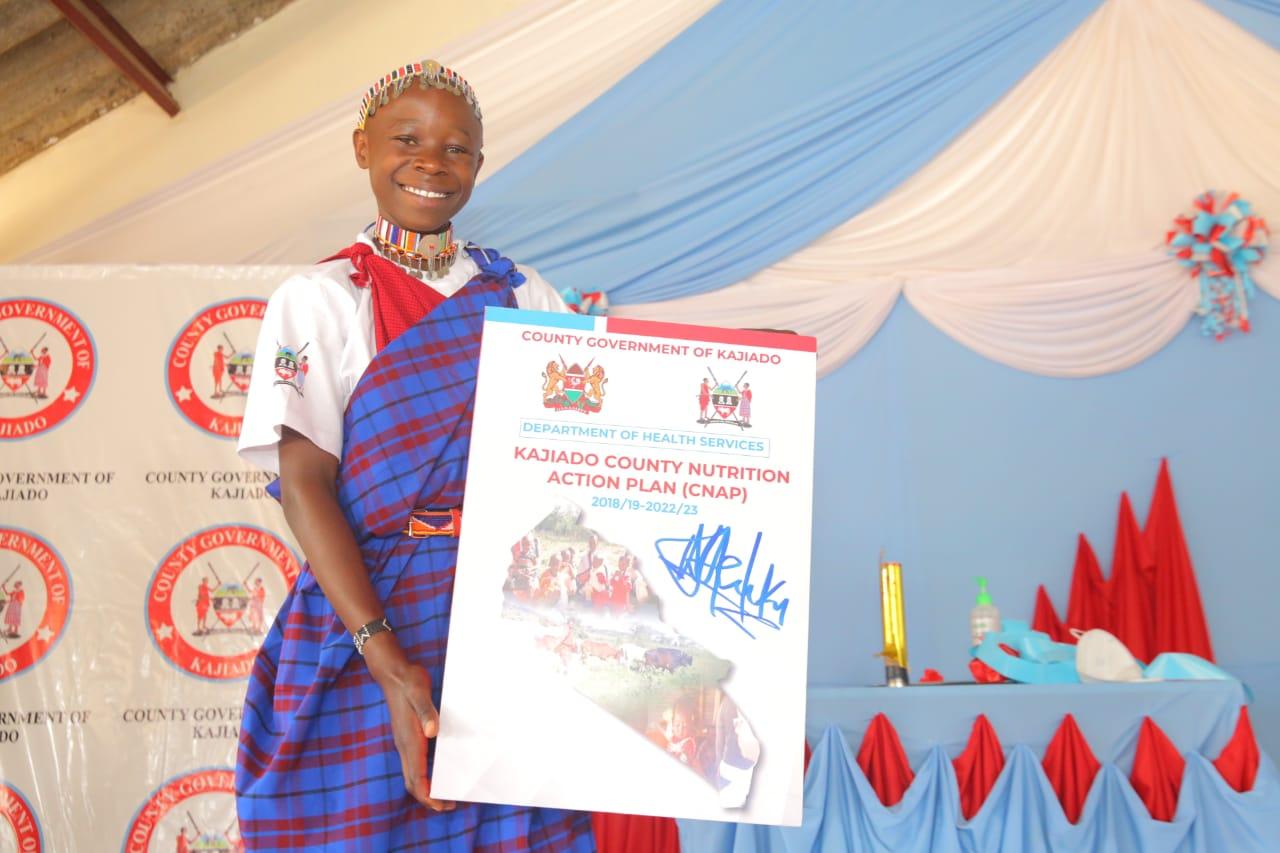 Adolescent girl at launch of nutrition action plan in Kajiado County Kenya