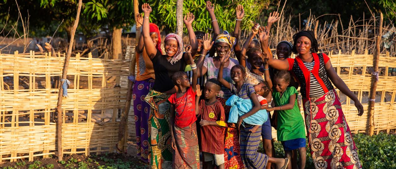 group of women in PINKK garden