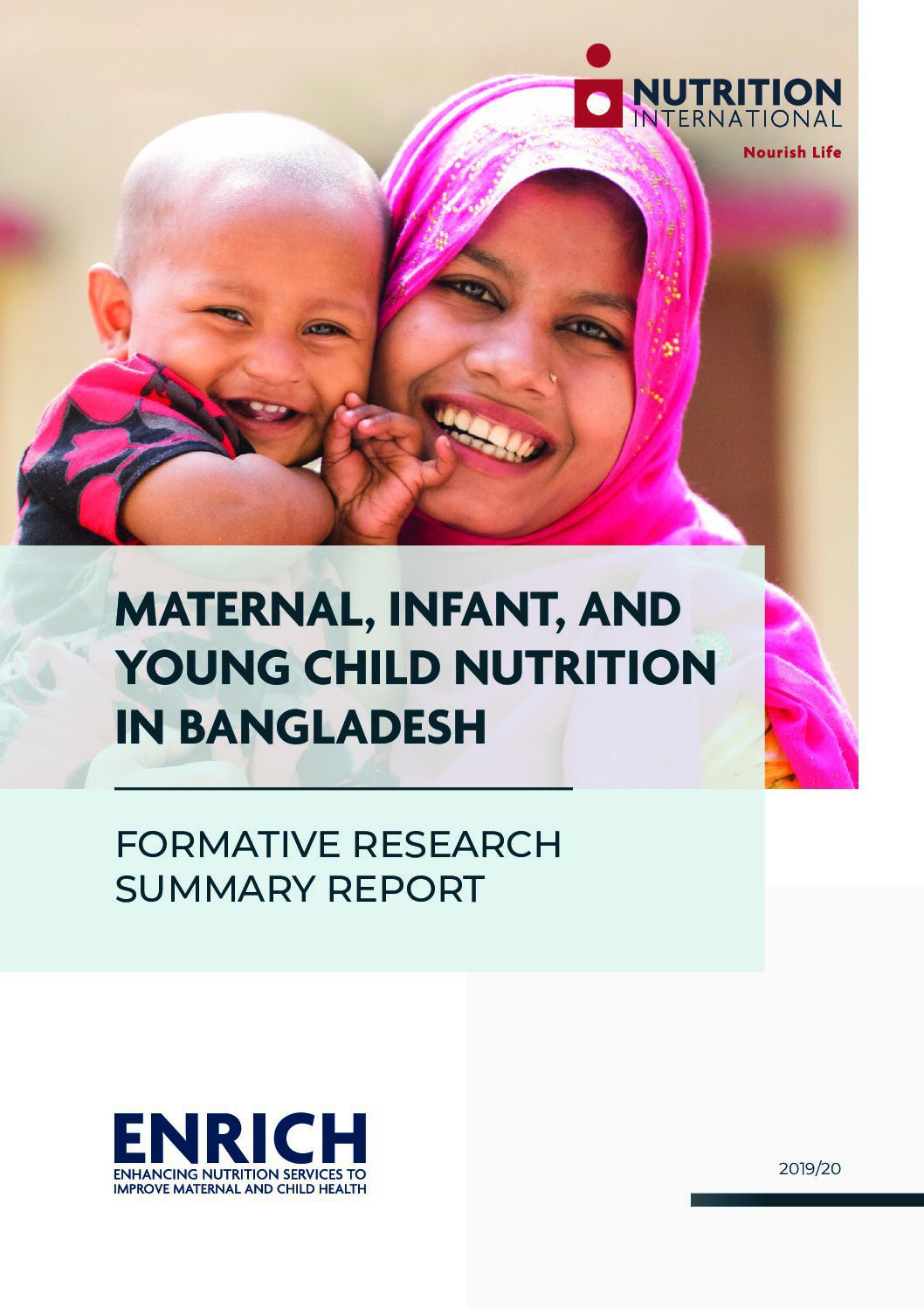 Maternal, Infant, and Young Child Nutrition in Bangladesh: Formative research summary report thumbnail