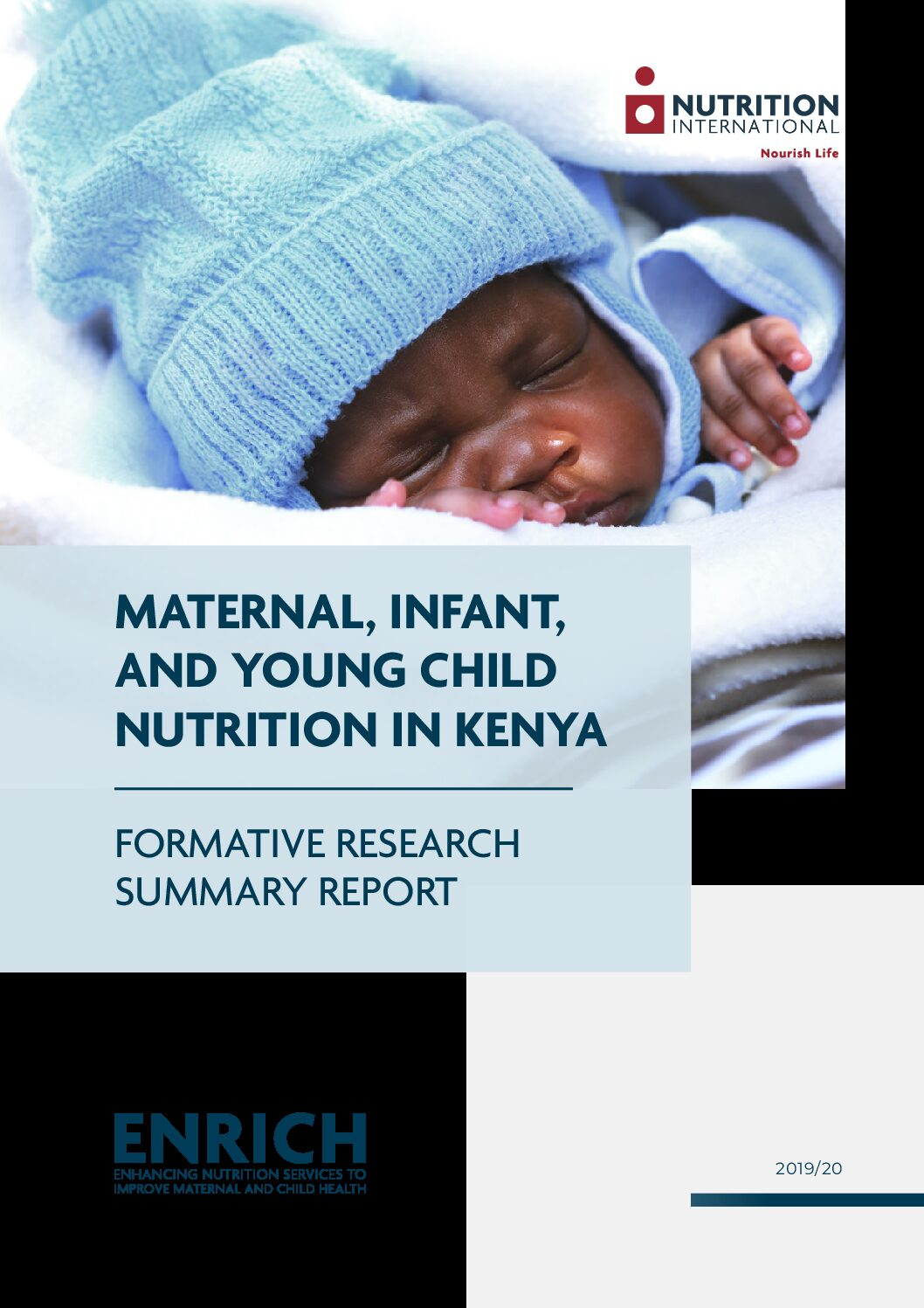 Maternal, Infant, and Young Child Nutrition in Kenya: Formative research summary report thumbnail