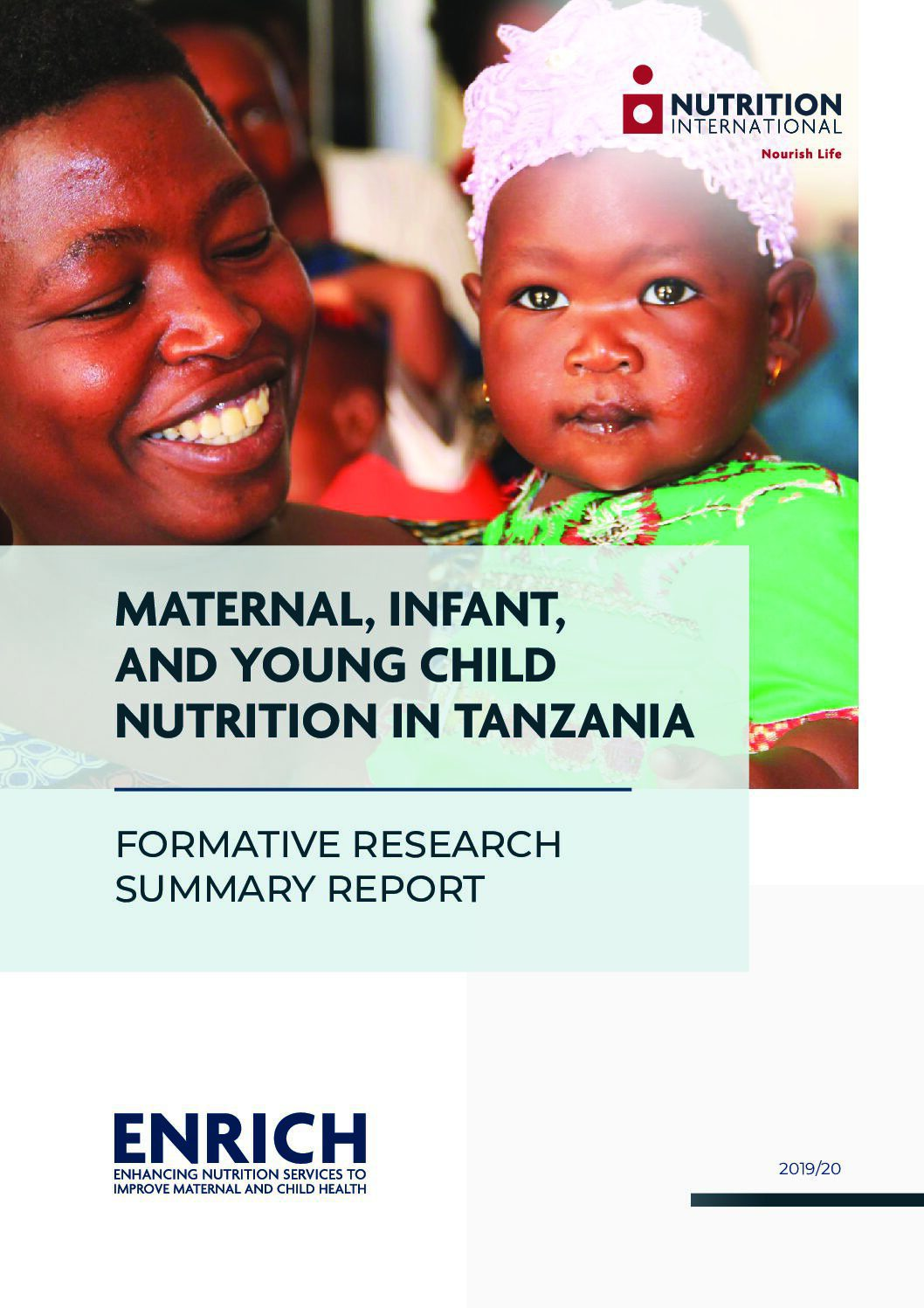 Maternal, Infant, and Young Child Nutrition in Tanzania: Formative research summary report thumbnail