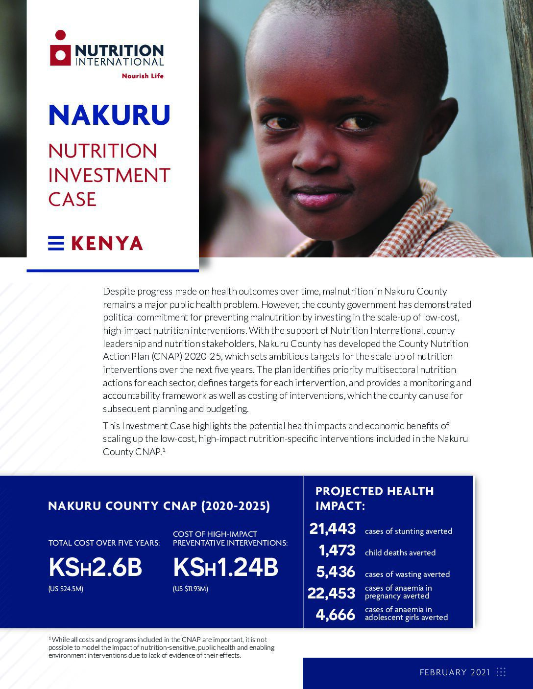 Nakuru County Nutrition Investment Case thumbnail