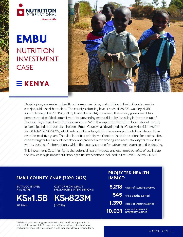 Embu Nutrition Investment Case thumbnail