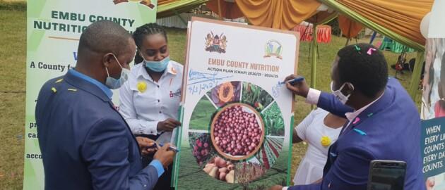 Embu County officials sign ceremonial CNAP at launch