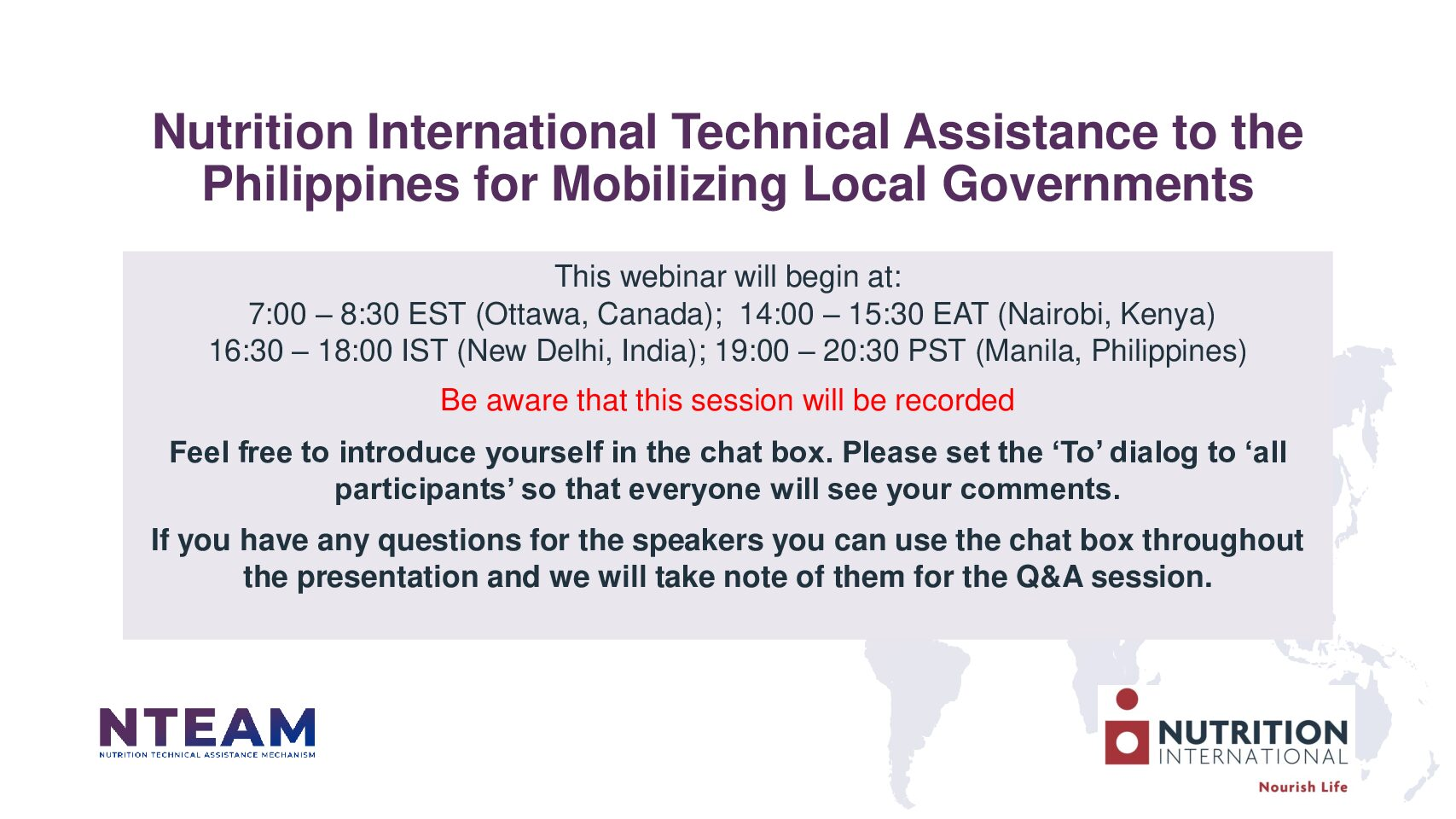 Nutrition International's technical assistance to the Philippines for mobilizing local governments for improved nutrition action thumbnail