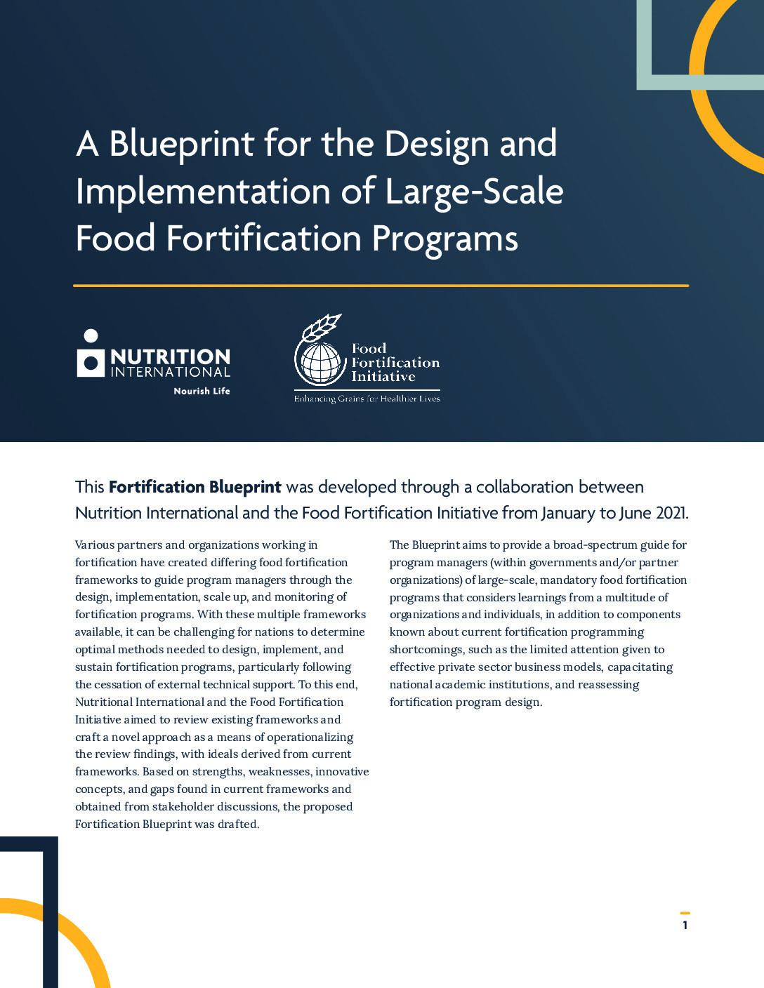 A Blueprint for the Design and Implementation of Large-Scale Food Fortification Programs thumbnail